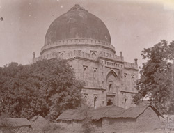 General view of the Bara Gumbad, Delhi.